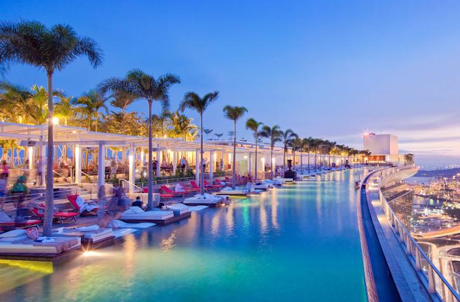 Le piscine pi spettacolari del mondo retepiscine for Piscina singapore